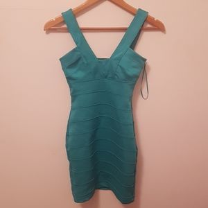 Turquoise bandage dress